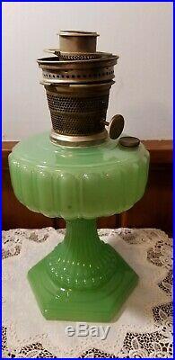 Vintage Aladdin Model B Jadeite Oil/kerosene Lamp