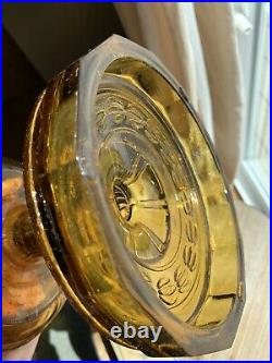 Vintage Aladdin Model B Kerosene Washington Drape Amber Lamp Crow Foot Base, Box