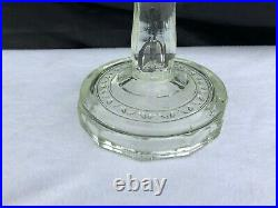 Vintage Aladdin Model B Washington Drape Clear Glass Oil Lamp with Pyrex Chimney