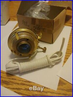 Vintage Aladdin Model B Washington Drape Clear Glass Oil Mantle Kerosene Lamp