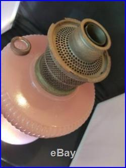 Vintage Aladdin Moonstone Rose Vertique Kerosene Oil Lamp B-87 NU Type