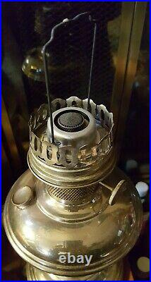 Vintage Aladdin Nickel Model 11 Kerosene Lamp