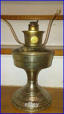 Vintage Aladdin Nickel Model #12 Oil Kerosene Lamp