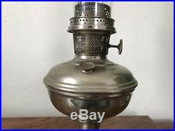 Vintage Aladdin Nickel Plated Kerosene Lamp -Model 12