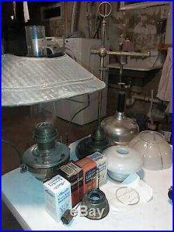 Vintage Aladdin Nickel Plated Kerosene Lamp -Model 12, coleman quik-lite + xtras