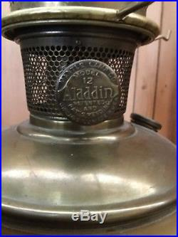 Vintage Aladdin No. 12 Oil Lamp Mantle Co With Shade