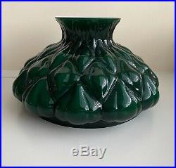 Vintage Aladdin Oil Kerosene Green Cased Glass Artichoke 10 Lamp Shade