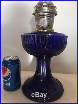 Vintage Aladdin Oil Kerosene Lamp Cobalt Blue Lincoln