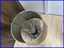 Vintage Aladdin Oil Kerosene Lamp Model 23 Metal Base Tan Shade