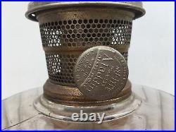 Vintage Aladdin Oil Lamp model B Corinthian 1935-1936 Dark Amber & Clear Yellow
