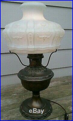 Vintage Aladdin Oil/kerosene Lamp Converted To Electric Lamp Model #7