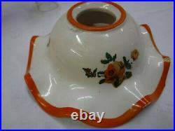 Vintage Aladdin Orange Oil Kerosene Lamp 10 3/4 Tall With Shade O523-21