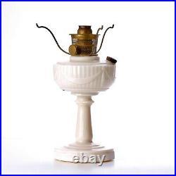 Vintage Aladdin Pink Lincoln Drape Oil Lamp Kerosene Model B Burner and Tripod