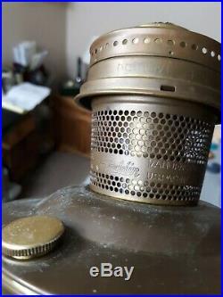 Vintage Aladdin Railroad Caboose Model 23 Brass Kerosene Oil Lamp Nice
