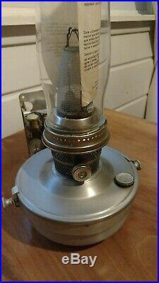 Vintage Aladdin Railroad Caboose Model 23 Kerosene Oil Lamp train/Wall Bracket