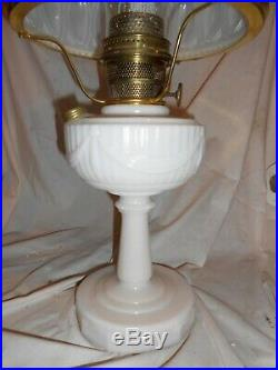 Vintage Aladdin Tall Lincoln Drape Kerosene Lamp With Shade And Chimney