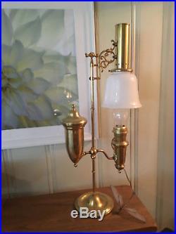 Vintage Aladdin brass table lamp electric oil kerosene Unique Classic Antique