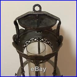 Vintage Antique 1928 1935 Aladdin Model 12 Oil Kerosene Hanging Lamp