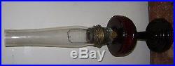 Vintage Antique Aladdin Lamp Kerosene Ruby Red Model B Tall Lincoln Drape 1941