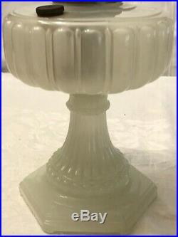 Vintage/Antique Aladdin White Glass withshade & new Mantle oil kerosene Lamp