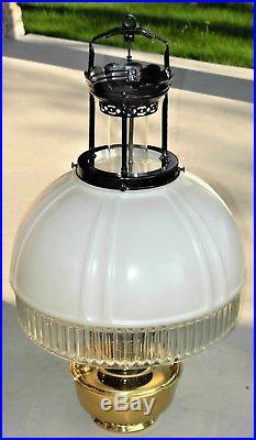 Vintage/Antique Hanging Aladdin Model 12 Brass Oil Lamp Original 616 Glass Shade