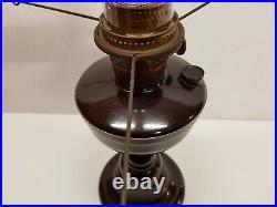 Vintage Bakelite Super Aladdin Pedestal Oil Lamp with Chimney Banquet Kerosene
