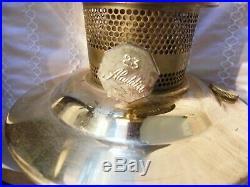 Vintage Brass Hurricane Kerosene Oil Lamp Aladdin #23 on Wood Sconce with Mirror