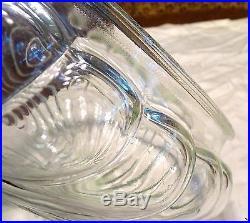 Vintage Clear Glass Swirl Oil Kerosene Lamp Shade fits Aladdin 10 Shade Ring