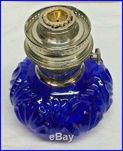 Vintage Cobalt Blue Genie 2 Aladdin Kerosene Lamp Number 23 Never Used
