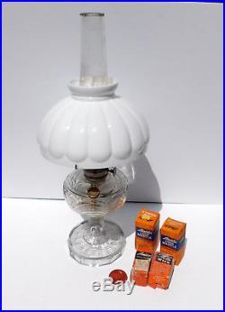 Vintage Complete Aladdin Kerosene Lamp Clear Washington Drape Mod B w Extras