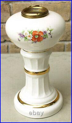 Vintage HTF 1947 Aladdin Victoria Porcelain China Oil Kerosene Hurricane Lamp