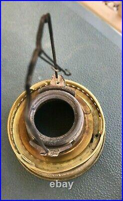 Vintage Kerosene ALADDIN Glass Shelf Lamp with No. 23 Burner