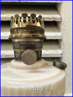 Vintage Lincoln Drape Aladdin Alacite Tall Kerosene Lamps