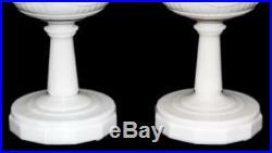 Vintage Matching Cream Aladdin Alacite Lincoln Drape Kerosene Oil Lamps