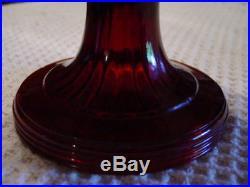 Vintage More rare Aladdin Ruby Red BEEHIVE Kerosene Oil Lamp Nu Type Model B