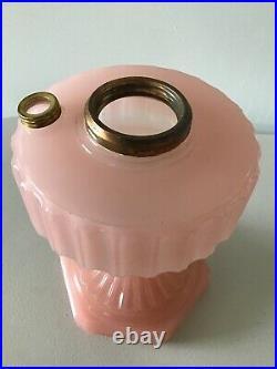 Vintage Original ALADDIN Pink Corinthian Lamp Base NICE