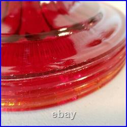 Vintage Original ALADDIN RED BEEHIVE Lamp Base NICE! READ