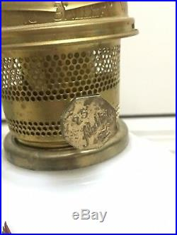 Vintage Pair Aladdin Kerosene Lamps #23 Milk Glass Goose Limited RARE 1980s