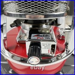 Vintage RARE Aladdin J180 PET Kerosene Red Space Heater Lamp Stove Gorgeous