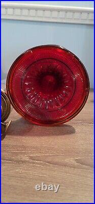 Vintage RUBY ALADDIN BEEHIVE OIL LAMP 1937-1938 MODEL B Original