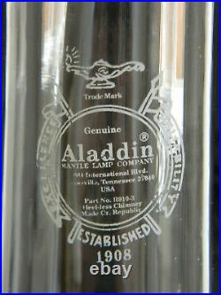 Vintage Red Aladdin Shelf Oil Kerosene LampSigned on Chimney too! A real Beauty