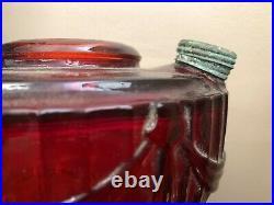 Vintage Red Lincoln Drape Aladdin Lamp Short 1939 Old One