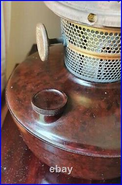 Vintage SUPER ALADDIN Bakelite Kerosene Oil Pedestal Lamp