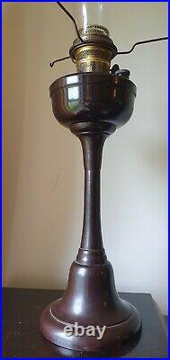 Vintage SUPER ALADDIN Bakelite Kerosene Oil Pedestal Lamp with Chimney