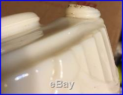Vintage Scalloped Aladdin Alacite Tall Kerosene Lamp Base Lincoln Drape Pattern
