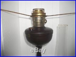 Vintage Super Aladdin Bakelite Kerosene oil lamp Made in England inc Chimney