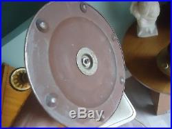 Vintage antique aladdin oil kerosene lamp gold on stand original shade model 12
