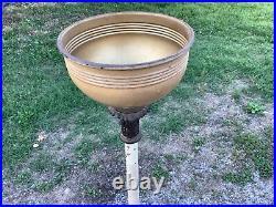 Vintage cast iron Aladdin pole stand lamp model 13 kerosene oil lamp with globe