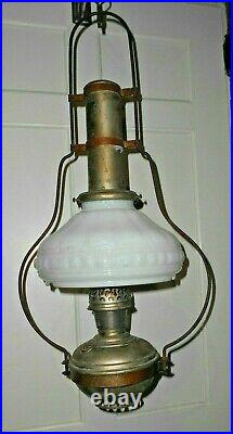 Vintage hanging oil kerosene lamp Aladdin model 6 parts/restore (LS)