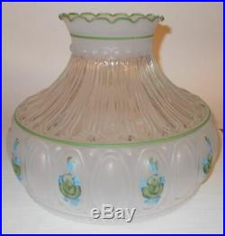Vintage kerosene Oil Aladdin Table Lamp with Shade Amber Lincoln Drape